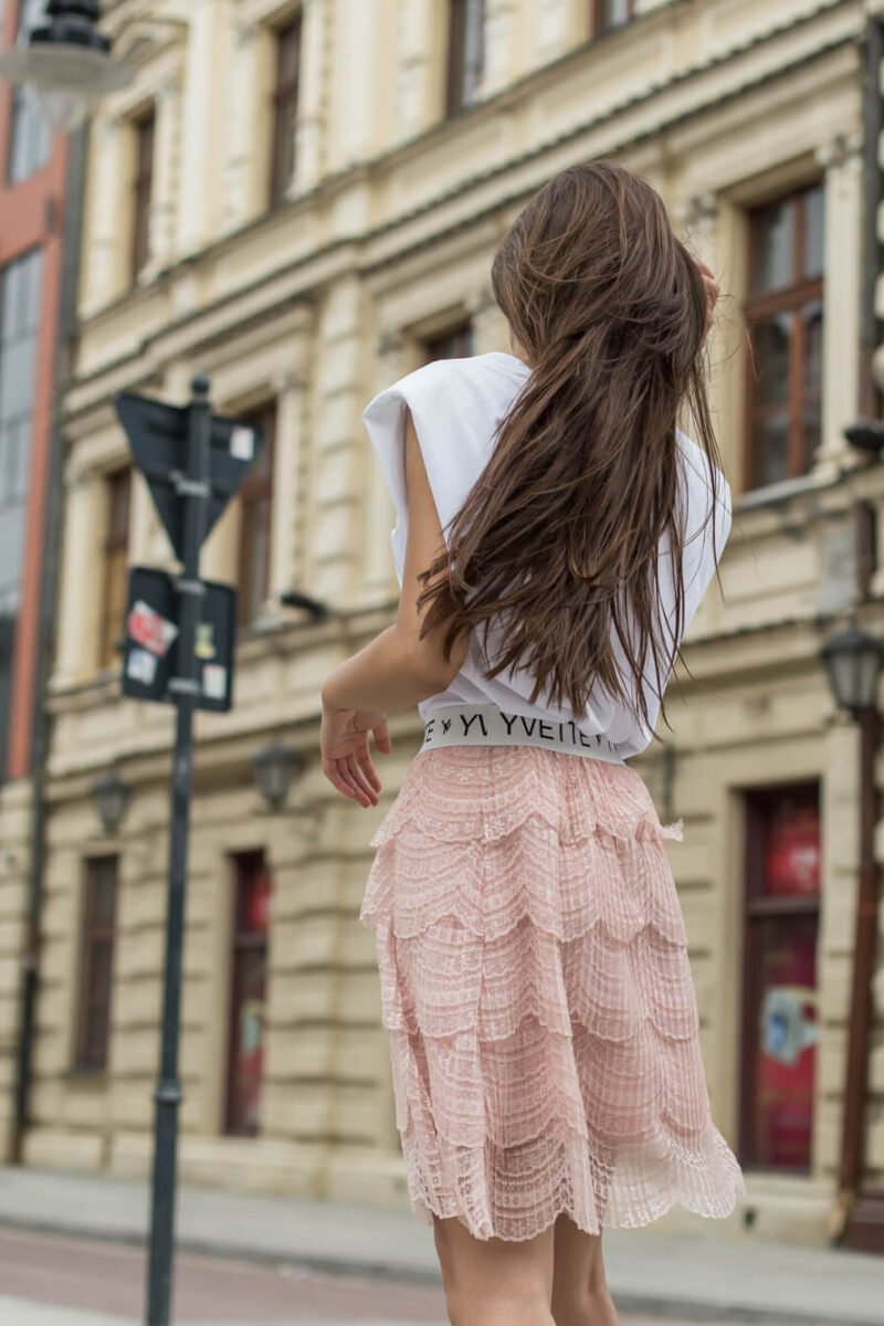 1978-PD Pudrowo różowa spódnica Megara (1)