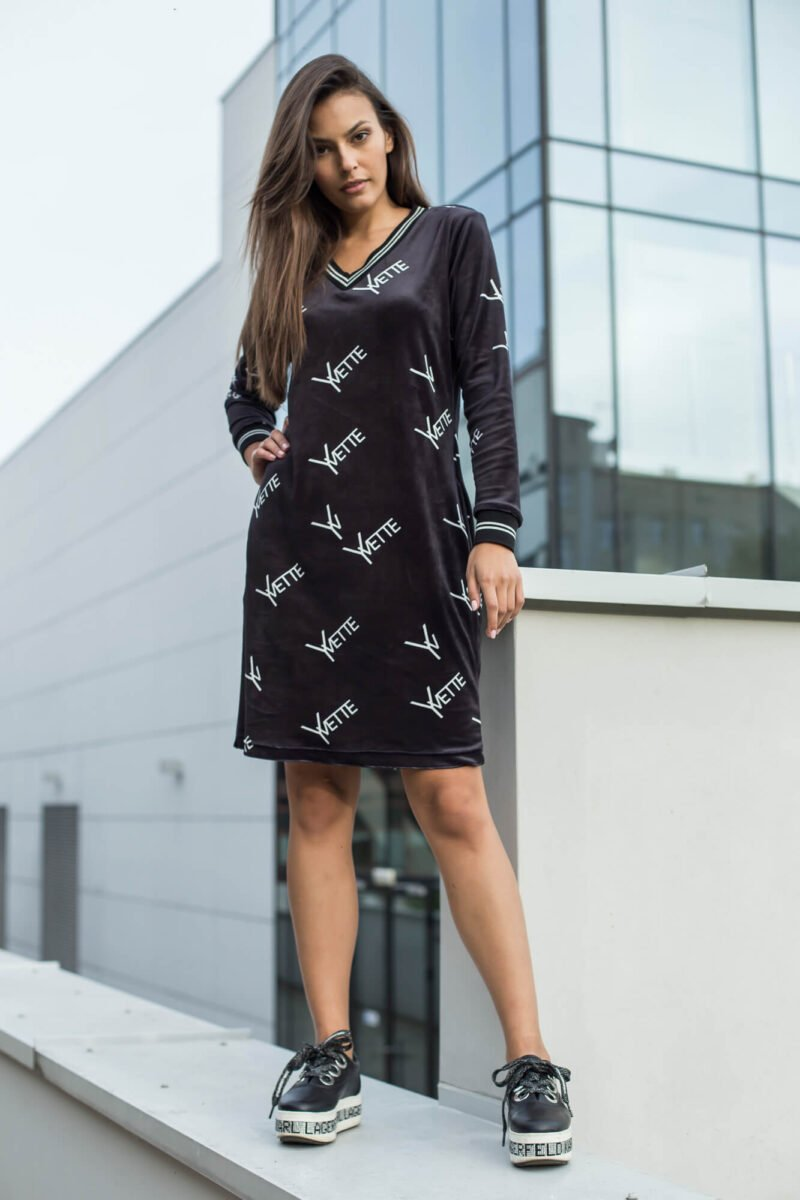 2031-BK Czarna sukienka Bernice (1)