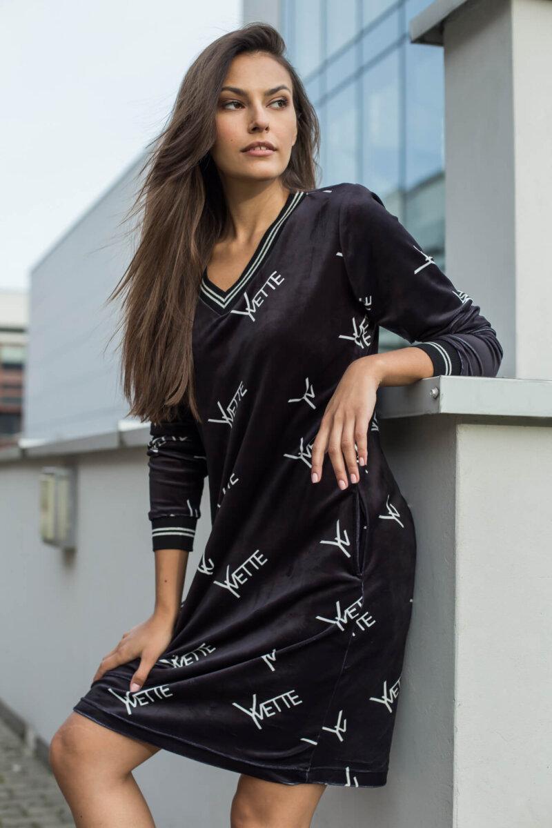 2031-BK Czarna sukienka Bernice (5)