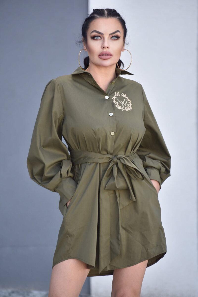 2089-KH Khaki koszula Adele (3)