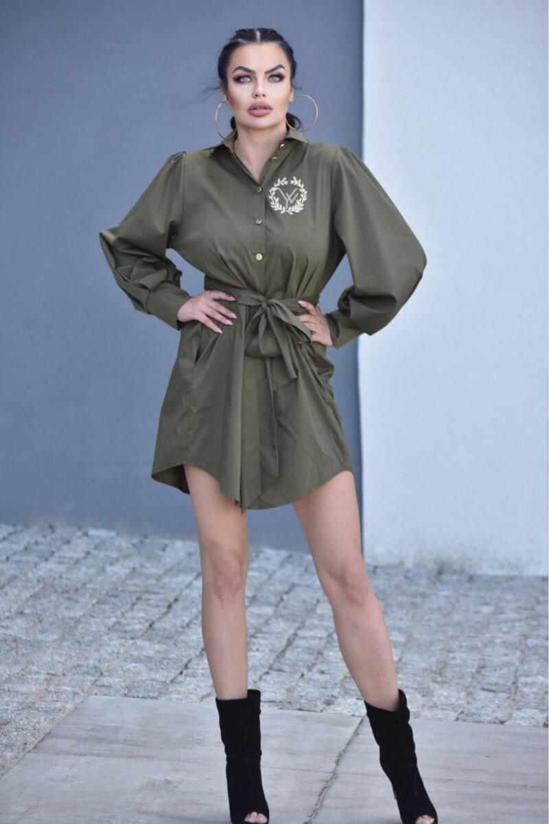 2089-KH Khaki koszula Adele (4)