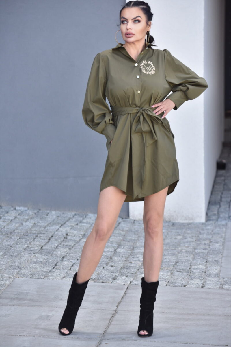 2089-KH Khaki koszula Adele (5)