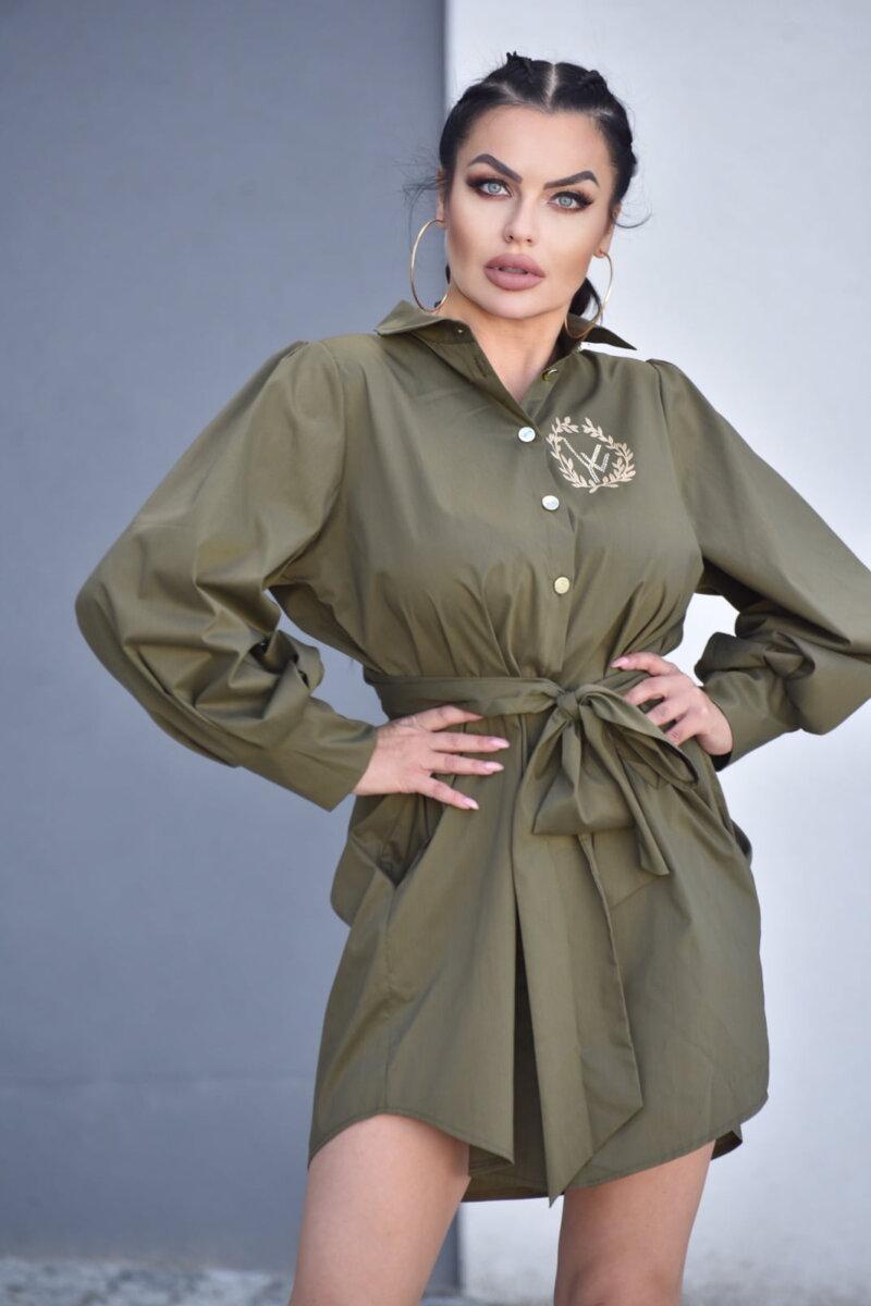 2089-KH Khaki koszula Adele (6)